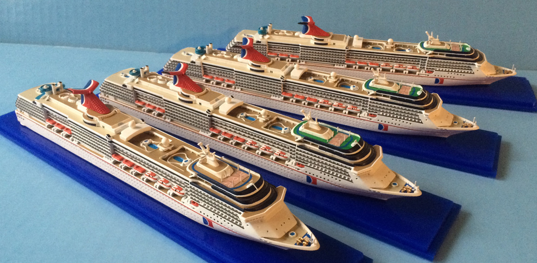Picture carnival Spirit, pride, legend, Miracle cruise ship models 1250 scale,  by Scherbak