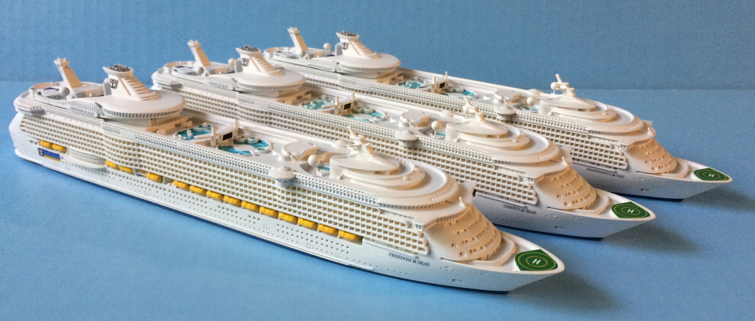 Freedom of the Seas class cruise ship models  1:1250 scale by Scherbak