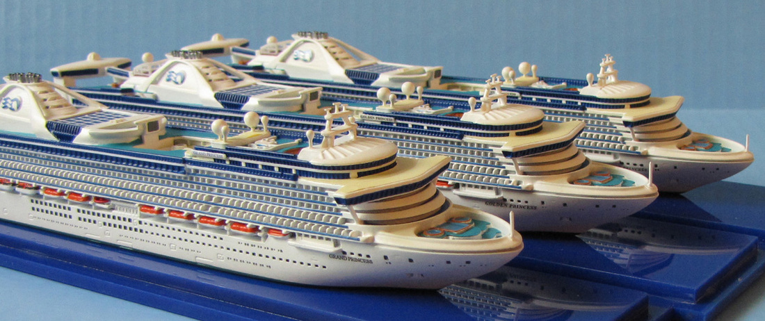 Grand Princess, Golden Princes, Star Princess cruise ship models 1:1250 scale by Scherbak, Picture
