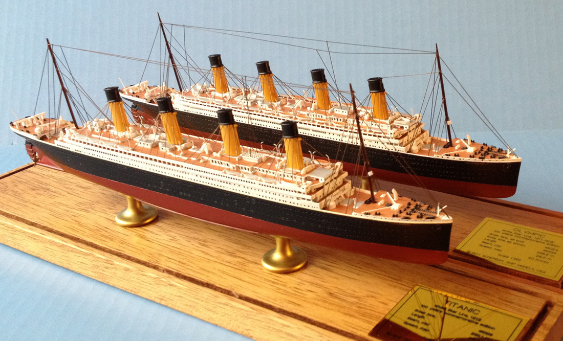 Titanic and Olympic ocean liner models 1:900 scale by Scherbak, Picture