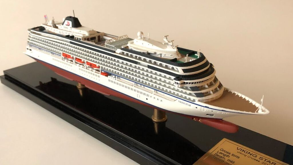Viking Cruises,  Viking Star, Viking Sea, Viking Sky, Viking Sun, Viking Orion , Viking Jupiter cruise ship scale models, Viking ocean cruises