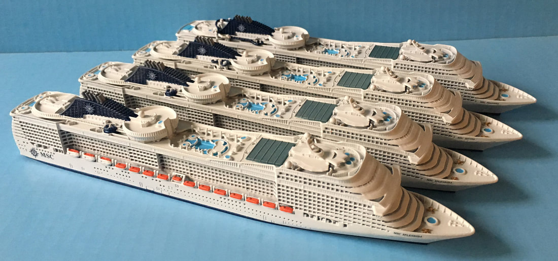 Souvenir Series MSC Fantasia class cruise ship models 1 ...