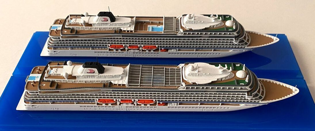 Viking Orion and Viking Jupiter cruise ship models picture