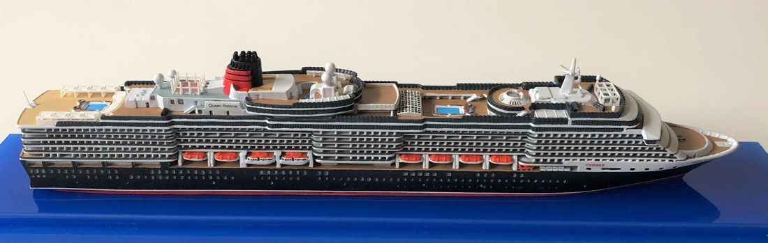 Queen Victoria cruise ship model 1:1250 scale Picture