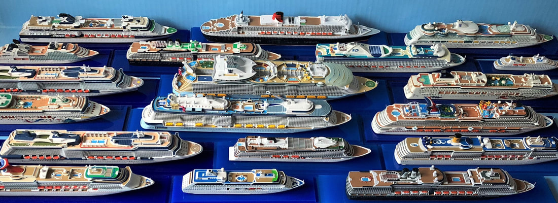 Collector's Series cruise ship models 1:1250 scale by Scherbak
