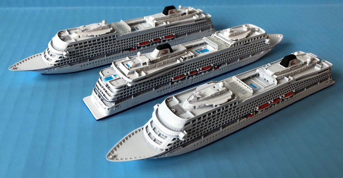 Viking Star, Viking Sky, Viking Sun cruise ship models Picture